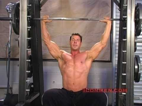Christian Boeving - Military Press on Smith Machine (Bodybuilding)