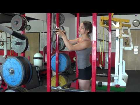 How to use a squat rack safely! Get a PERFECT BUTT AND ABS with squats! www.womensfitway.com