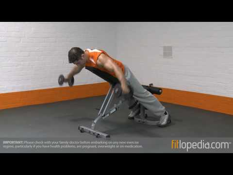 Incline Prone Reverse Dumbbell Fly