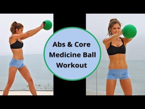 10 min Beginner Abs & Core Medicine Ball Workout 50-100 Calories