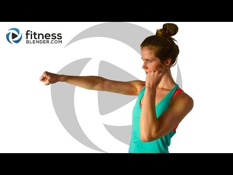 Cardio Kickboxing and Bodyweight Cardio Workout - Fat Burning Intervals