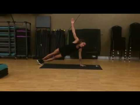 Best Ab Exercises for Women #8: T-Stabilization Plank