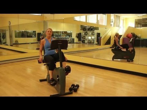 How to Adjust a Recumbent Exercise Bike to Work Different Muscle Groups : Indoor Cycling