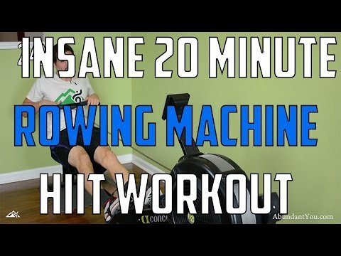 HIIT Workout - Insane 20 Minute Rowing Machine Workout