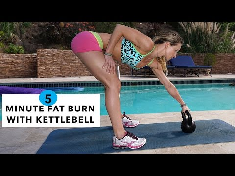 5 Minute Fat Burning Workout #79 - Kettlebell Swing