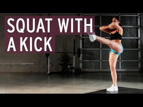 Squat with Kick - XFit Daily
