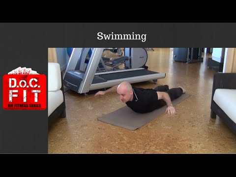 DoCFIT Fitness App - HIIT Bodyweight Workout - MMA-style Core Exercises - Swimming