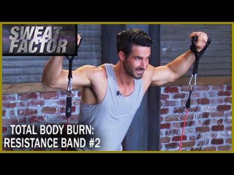 Total Body Burn Resistance Band Training with Drake: Circuit 2- Sweat Factor