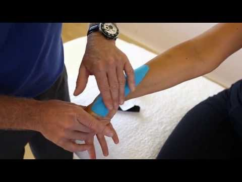 How to apply Kinesiology taping - Tendinitis of Wrist and forearm