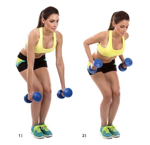 Krafttraining Rücken Übungen Hantel