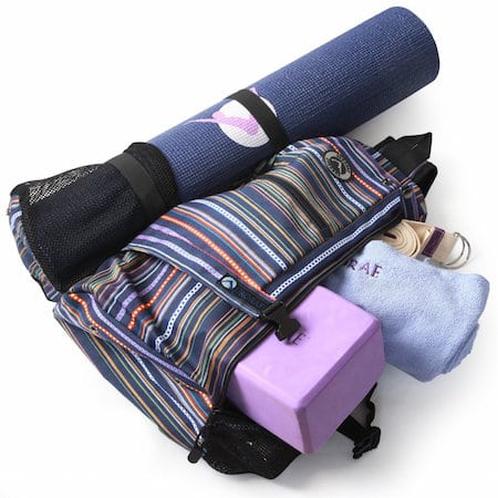 Some gym bags are designed with special features in mind. If you go to yoga  class and bring your own mat de9560dcf2c03